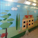Fiveways Subway Tiling Detail Trees and House