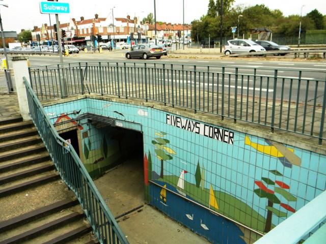 Fiveways Corner Subway - Northbound Entrance