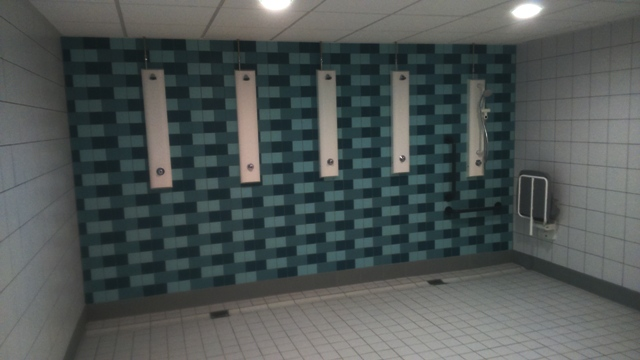 Changing Village Showers Wall & Floor Tiling